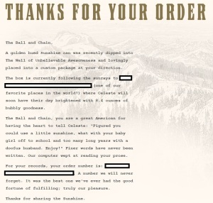 Sunshine_OrderConfirmation